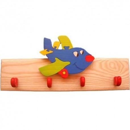 Detský vešiak - lietadlo