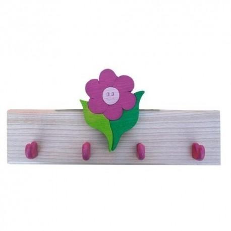 Detský vešiak - kvietok fialový