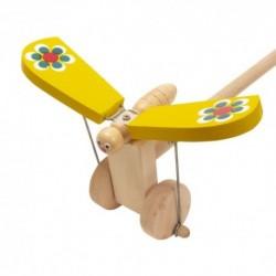 IMP-EX Drevená hračka na tlačenie - Motýlik žltý