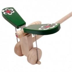 IMP-EX Drevená hračka na tlačenie - Motýlik zelený