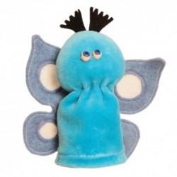 Prstová plyšová maňuška - Motýľ bledo-modrý