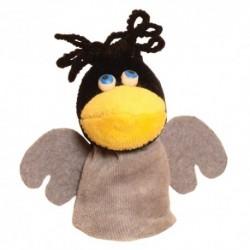 Prstová plyšová maňuška - Vrana