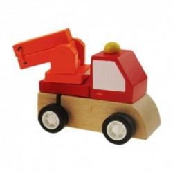Drevené autíčko (naťahovacie) - hasičské