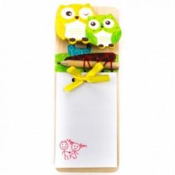 Poznámkový blok s ceruzkou - sovičky