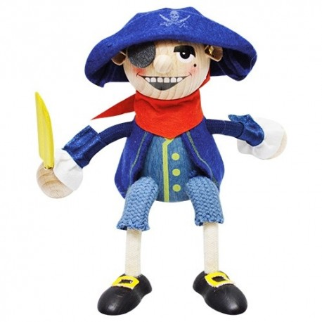 Drevená figúrka na pružinke - Pirát