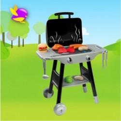 SMOBY detský Barbecue Grill čierno-šedý + 17 doplnkov