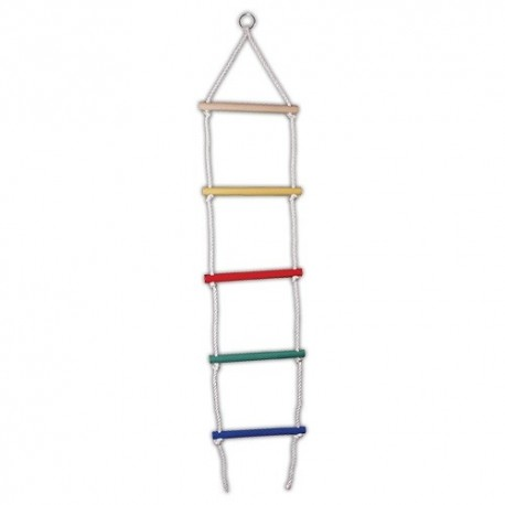 Detský rebrík na lezenie farebný - 5 schodíkov