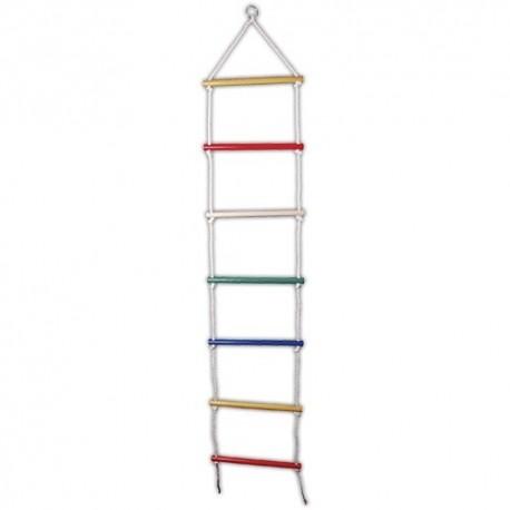 Detský rebrík na lezenie farebný - 7 schodíkov