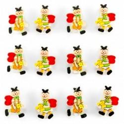 Drevené malé štipce lienky - 12 kusov
