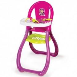 SMOBY Jedálenská stolička pre bábiky Máša a Medveď