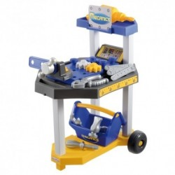 ÉCOIFFIER detská pracovná dielňa na kolieskach Mecanics + 26 doplnkov