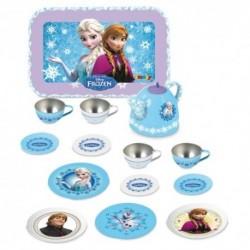 SMOBY detská plechová čajová súprava Frozen s čajníkom