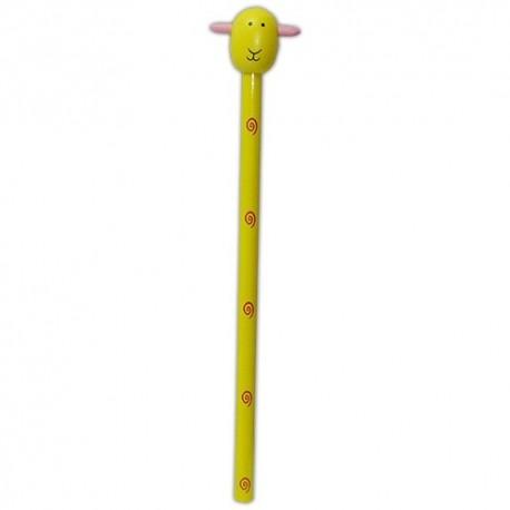 Drevená ceruzka so zvieracou hlavou - Ovečka