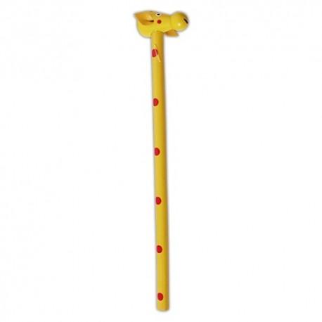 Drevená ceruzka so safari zvieratkom - Žirafa