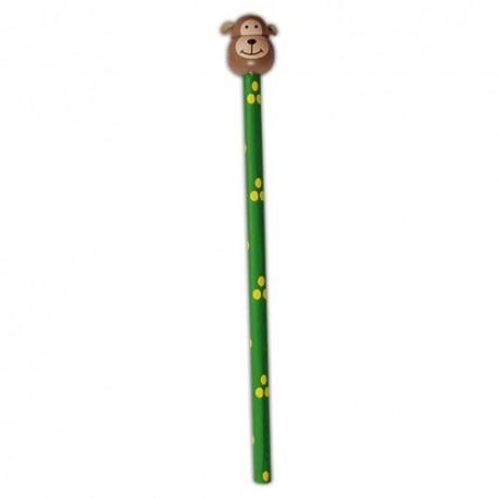 Drevená ceruzka so safari zvieratkom - Opica