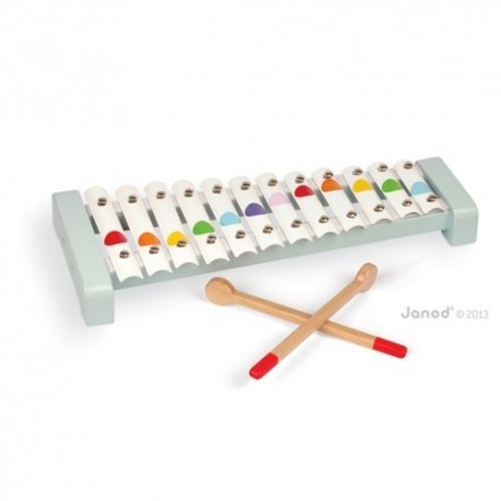JANOD Detský kovový xylofón Confetti