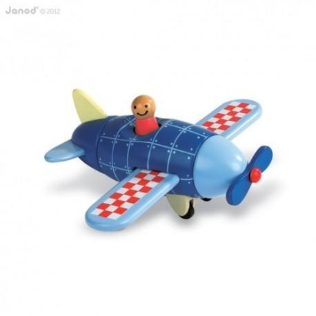 JANOD detská drevená magnetická skladačka Kit Magnet lietadlo