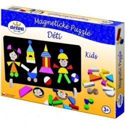 DETOA Drevené magnetické puzzle Deti