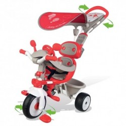 SMOBY detská trojkolka Baby Driver Confort červená