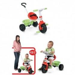 SMOBY detská trojkolka Be Fun Mixte červeno-zelená